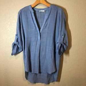 Lightweight blouse, split side detail sz small